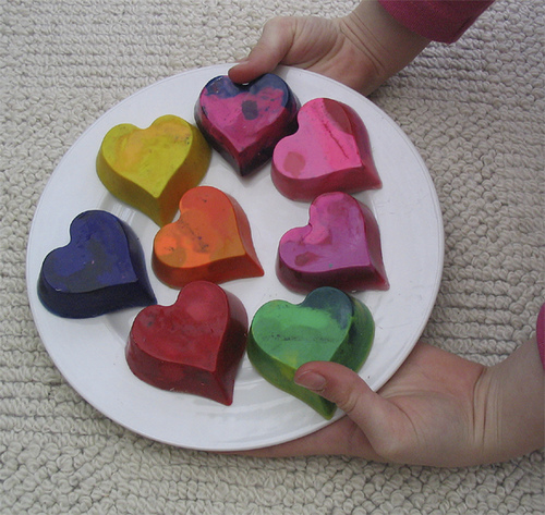 Crayons Heart Shape