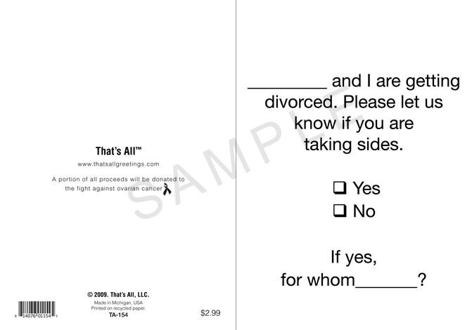 Divorce Greeting
